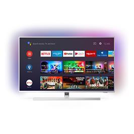 טלוויזיה 43 4K UHD LED Android TV ותאורת Ambilight תוצרת PHILIPS דגם 43PUS8505