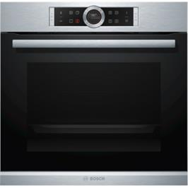 תנור אפיה בנוי 13 תכניות בגימור נירוסטה מסדרה 8 בוש דגם HBG635BS1