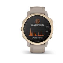 שעון מולטי ספורט מתקדם עם GPS מובנה תוצרת garmin דגם Fenix 6  6S Pro Solar 010-02409-11H