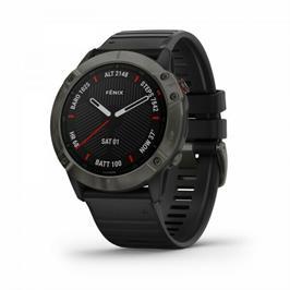 שעון ספורט fenix 6S Sapphire Carbon Grey DLC w/Blk Band GPS Watc תוצרת Garmin דגם 010-02159-25H
