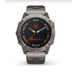 שעון ספורט Fenix 6X PRO SOLAR-Titanium with Vented Titanium Stra תוצרת Garmin דגם 010-02157-24H