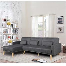 מערכת ישיבה פינתית מבד נפתחת למיטה זוגית תוצרת HOME DECOR דגם נופר