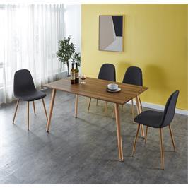פינת אוכל מעץ כולל 4 כיסאות תוצרת GAROX דגם JANE