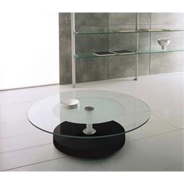 שולחן סלון זכוכית דגם FENDI BLACK תוצרת GAROX