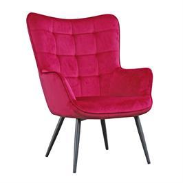 כורסא מלכותית מעוצבת עם רגלי מתכת וריפוד קטיפתי  HOME DECOR דגם בוסטון