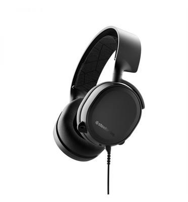 אוזניות גיימרים מעוצבות וחכמות תוצרת SteelSeries דגם Arctis 3 black