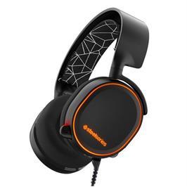 אוזניות גיימינג איכותיות עם תאורת RGB תוצרת  SteelSeries  דגם Arctis 5 Black