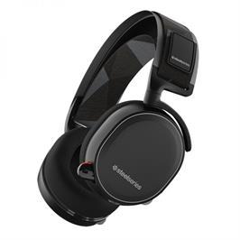 אוזניות גיימיניג בעלות סאונד אלחוטי ללא השהיות תוצרת SteelSeries דגם Arctis 7 black
