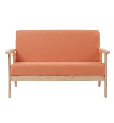 ספה מעוצבת דו מושבית מבד עם ידיות מעץ תוצרת ROSSO ITALY דגם MSH-11-15