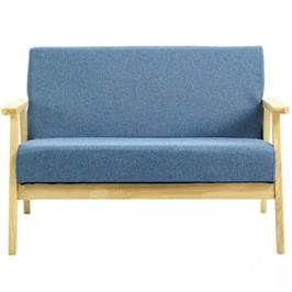 כורסא מעוצבת מבד עם ידיות מעץ דגם MSH-11-14 מבית ROSSO ITALY