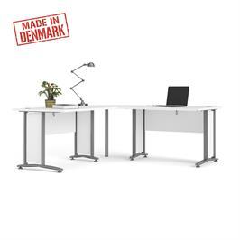 שולחן מנהלים פינתי מרווח עם רגלי ברזל תוצרת HOME DECOR דגם בונד
