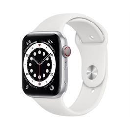 שעון חכם iWatch Apple Series 6 GPS + Cell 44mm Silver Aluminium Case white Sport band