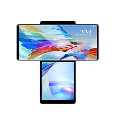 טלפון סלולרי WING Illusion Sky 5G 8GB 128GB תוצרת LG דגם LG WING 5G צבע כחול שמיים