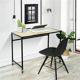שולחן מחשב עם גלגלים בעלי מעצורים נוחים לתפעול מבית HOMAX דגם וואיקאיה