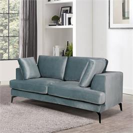 ספה דו מושבית מרופדת בד קטיפתי HOME DECOR דגם אלפא