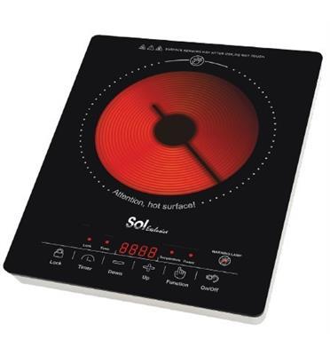 כירה קרמית דיגיטלית הספק 2000W תוצרת SOL דגם SL-1155