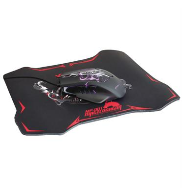 עכבר גיימינג במהירות 3200 DPI  ומשטח לעכבר מבית XTRIKE ME דגם GMP-501