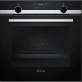 תנור בנוי 71 ליטר בעיצוב שחור עם נירוסטה מסדרת IQ500 תוצרת SIEMENS דגם HB537GBS1Y