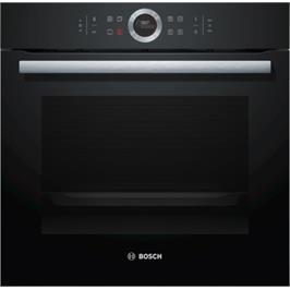 תנור בנוי שחור 71 ליטר סדרה Serie 8 תוצרת BOSCH דגם HBG635BB1