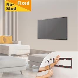"""זרוע ברקן קבועה לקיר גבס למסכי טלוויזיה שטוחים/ קעורים """"75 - """"""""29 דגם ND400"""