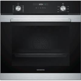 תנור בנוי 71 ליטר בעיצוב שחור עם נירוסטה מסדרת IQ500 תוצרת SIEMENS דגם HB317GBS0Y