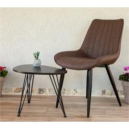 כיסא מפואר לפינת אוכל מרופד דמוי עור מבית פנדה סטייל לפינת אוכל דגם רומא