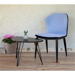כיסא מרופד דמוי עור לפינת אוכל מבית פנדה סטייל לפינת אוכל דגם נאפולי