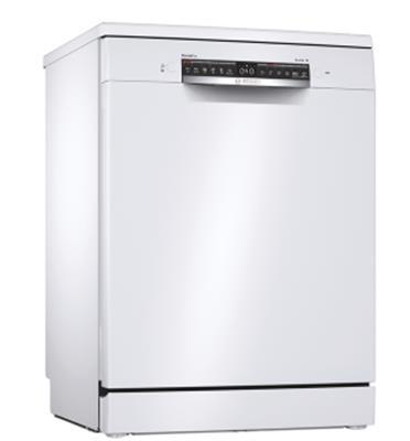 """מדיח כלים רחב בצבע לבן 60 ס""""מ 14 מערכות כלים סדרה Serie 4 תוצרת BOSCH דגם SMS4HCW48E"""