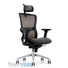 כיסא מנהלים מרשת עם כרית ראש דגם ברדלס