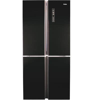מקרר 4 דלתות בנפח 657 ליטר No Frost גימור שחור זכוכית תוצרת Haier דגם HRF4626FB
