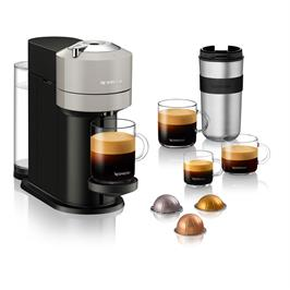 מכונת קפה VertuoNext מבית NESPRESSO דגם GCV1 בגוון אפור