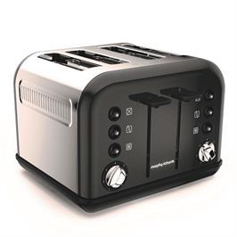 מצנם חשמלי 4 פרוסות ACCENTS black תוצרת MORPHY RICHARDS דגם 242031