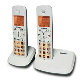 טלפון אלחוטי + שלוחה עם דיבורית בנייד ולחצנים גדולים מבית Uniden דגם UNI-4103-2