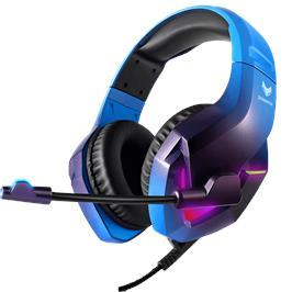 אוזניות SPARKFOX דגם H1 BLUE עם תאורת RGB מתחלפת