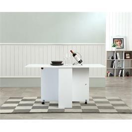 שולחן אוכל מתקפל עם תא איחסון מבית BRADEX דגם OSLO