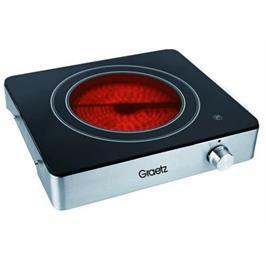 פלטת בישול קרמית יחיד 2000 וואט עיצוב מרהיב תוצרת GRAERTZ דגם GR195