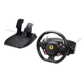 סט הגה מירוצים מעוצב ואיכותי עם דוושות בלימה/האצה מבית Thrustmaster דגם Ferrari 458