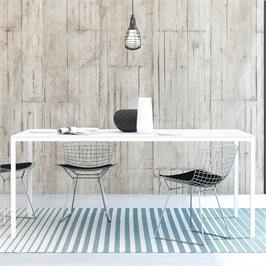 """שולחן אוכל מלבני 180 ס""""מ סקנדינבי עם רגלי ברזל HOME DECOR דגם דורין"""