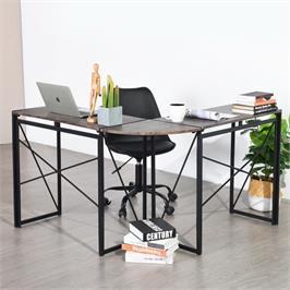 שולחן עבודה פינתי מתקפל מבית HOMAX דגם אלברטין