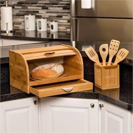 """ארגז לחם מבמבוק לשמירת טריות הלחם מבית HONEY CAN DO ארה""""ב דגם kch-01081"""