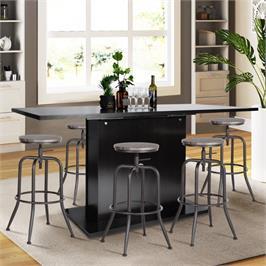 כיסא בר בעיצוב קלאסי ייחודי, נוח ופרקטי מבית HOMAX דגם אנאקלטוס בשני צבעים לבחירה