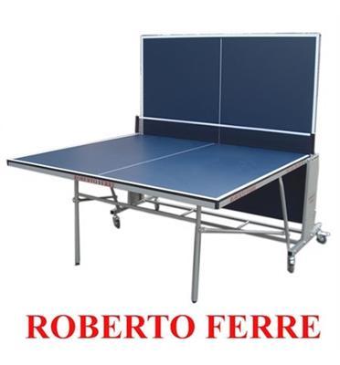 """שולחן טניס מקצועי לשימוש פנים פלטה 16 מ""""מ מבית Roberto Ferre דגם 2 Silver Frame"""