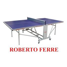 """שולחן טניס מקצועי לשימוש פנים פלטה 18 מ""""מ מבית Roberto Ferre דגם 3 Silver Frame"""