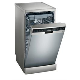 """מדיח כלים צר 45 ס""""מ דמוי נירוסטה 10 מערכות כלים אינטגרלי מלא iQ300 תוצרת SIEMENS דגם SR23HI65ME"""