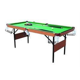 שולחן סנוקר 6 פיט עם מסילות לכדורים חצי מקצועי מבית CITYSPORT דגם 91305