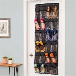 """מתלה ל24 נעליים צבע שחור מבית HONEY CAN DO ארה""""ב דגם SFT-01249"""