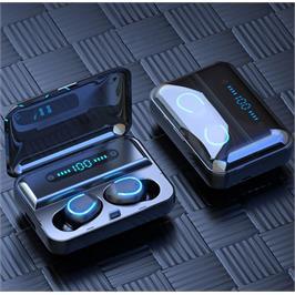 אוזניות כפתור TWS עם צג דיגיטלי ו- POWER BANK מובנה מבית GRANDTEC דגם GTR99