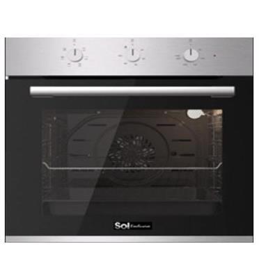 תנור בילד אין 72 ליטר ענק ללא תפרים מולטי סיסטם בעל 6 תוכניות תוצרת SOL דגם HO-605