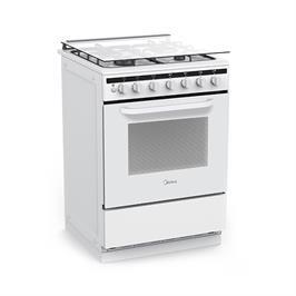 """תנור אפייה משולב עומד ברוחב 60 ס""""מ לבן תוצרת Midea דגם 24DMS4G"""