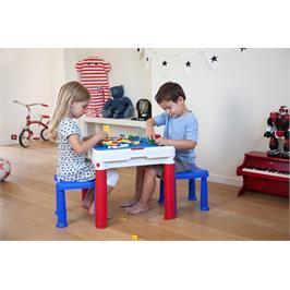 """שולחן משחק עם משטח עליון נשלף + 2 שרפרפים מבית כתר פלסטיק בע""""מ"""